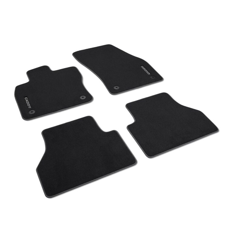 VW Caddy 2020-Present Textile Floor Mats Front And Rear ...